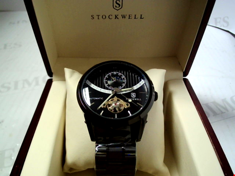 Lot 5630 DESIGNER STOCKWELL 1000 EDITION AUTOMATIC MOONPHASE DIAL METAL STRAP WATCH RRP £625.00