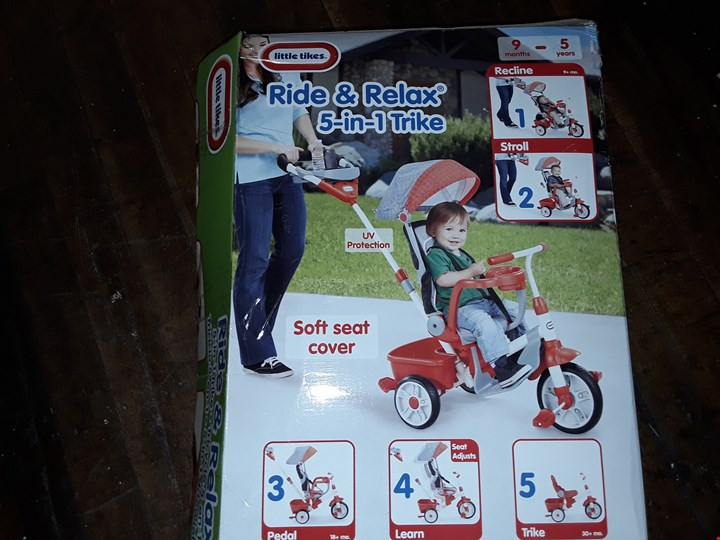 a896907ae2e Lot 11313: Grade 1 LITTLE TIKES 5 IN 1 DELUXE RIDE & RELAX RECLINER TRIKE  RRP £169.99