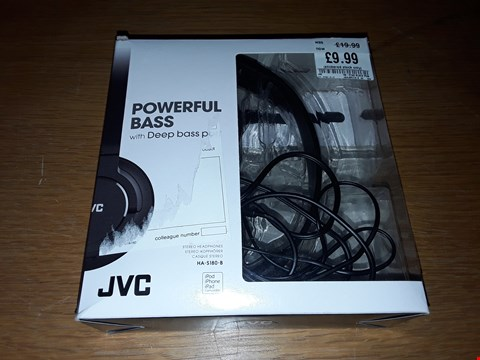Lot 4190 BOXED JVC POWERFUL BASS STEREO HEADPHONES - HA-S180