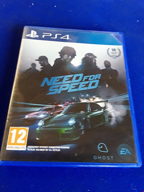 Lot 7640 NEED FOR SPEED PLAYSTATION 4 GAME