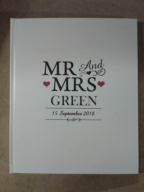 Lot 179 PERSONALISED RUSTIC WEDDING ALBUM  RRP £38