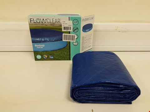Lot 9338 BOXED BRAND NEW 12' POOL COVER FAST SET  RRP £18.00