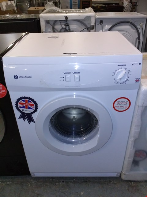 Lot 21 WHITE KNIGHT C44A7W 7KG VENTED DRYER WHITE