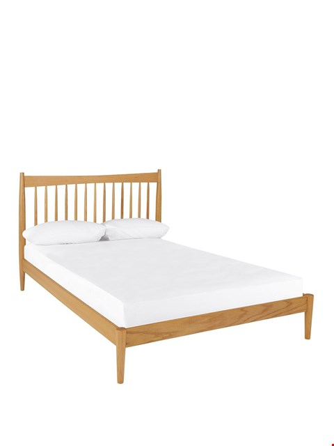 Lot 81 BRAND NEW BOXED CROFT OAK-EFFECT KING-SIZE BED FRAME (2 BOXES) RRP £499.00