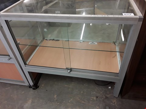 Lot 1047 GLAZED SERVE OVER DISPLAY CABINET