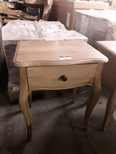 Lot 7043 DESIGNER OAK-EFFECT 1-DRAWER LAMP TABLE
