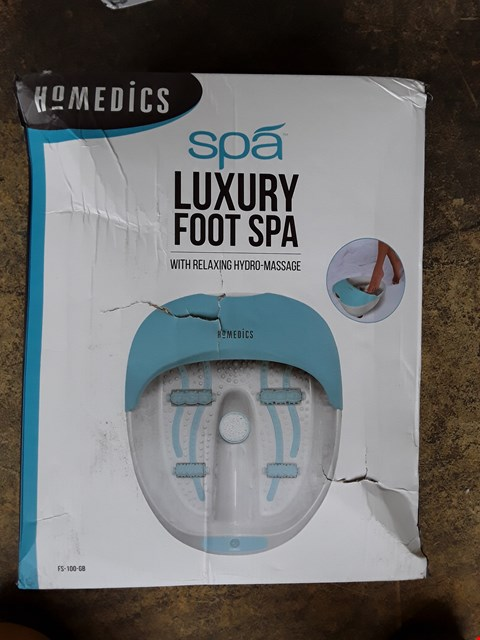 Lot 7264 BOXED GRADE 1 HOMEDICS LUXURY FOOT SPA RRP £65