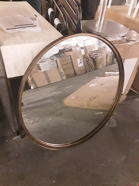 Lot 7018 BOXED DESIGNER CIRCULAR FRAMED MIRROR