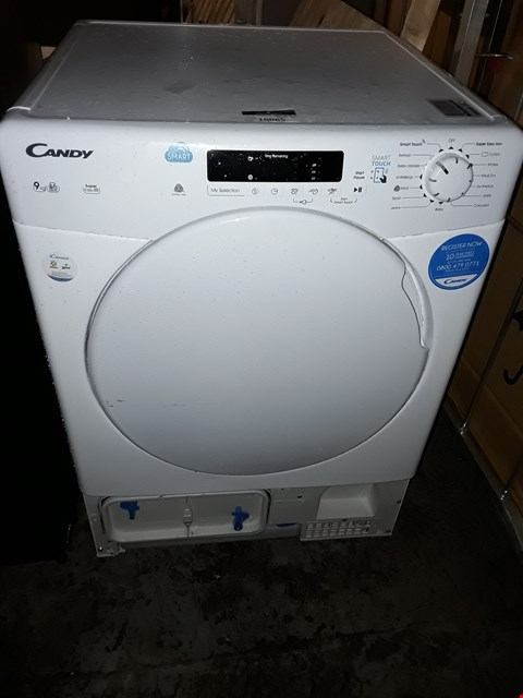 Lot 10065 CANDY 9KG WHITE TUMBLE DRYER MODEL: CS C9DF-80