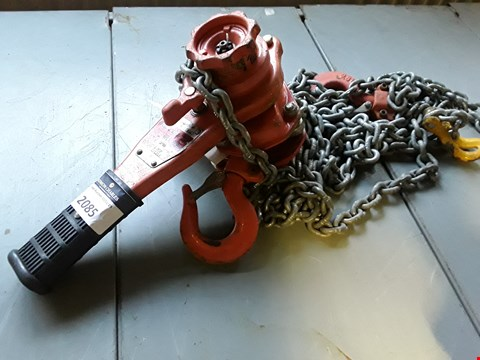 Lot 2085 HACKETT WLL-800K HAND HOIST