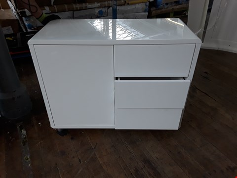 Lot 2122 WHITE 2 DRAWER 1 DOOR CABINET