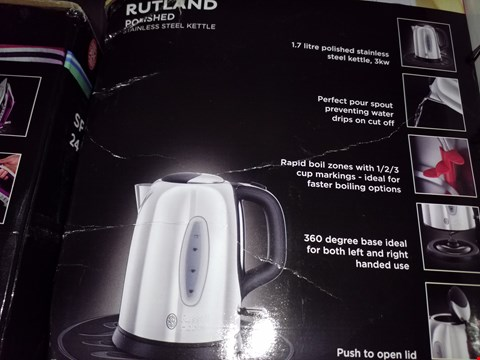Lot 9806 RUSSELL HOBBS RUTLANDS POLISHED STAINLESS STEEL KETTLE