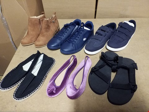 Lot 9376 LOT OF APPROXIMATELY 90 ASSORTED PAIRS OF SHOES TO INCLUDE BALLERINA PUMPS, MEN'S DESIGNER TRAINERS AND LADIES HEELED BOOTS (4 BOXES)
