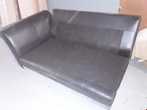 Lot 12020 BLACK FAUX LEATHER CHAISE FRAME