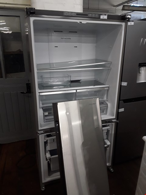 Lot 12074 HISENSE SILVER FRIDGE FREEZER- MISSING DOORS