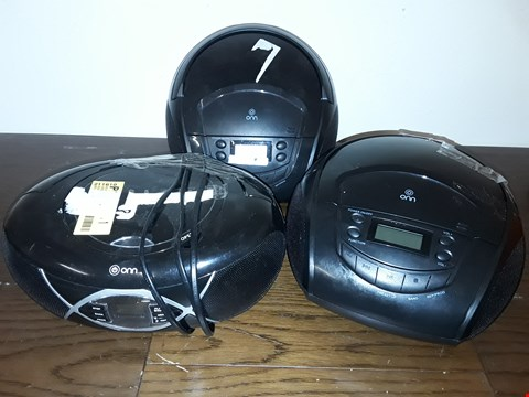 Lot 9046 LOT OF 3 ONN CD PLAYERS - 2 DESIGNS