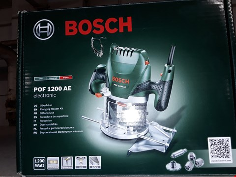 Lot 12364 BOSCH PLUNGING ROUTER KIT