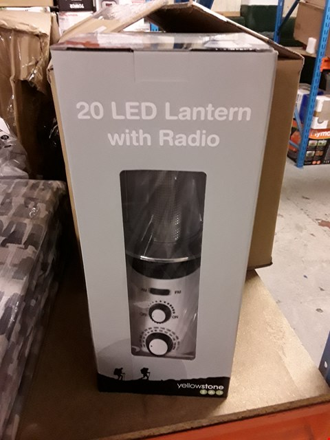 Lot 7404 BRAND NEW YELLOWSTONE 20 LED LANTERN WITH RADIO 18  RRP £17.00