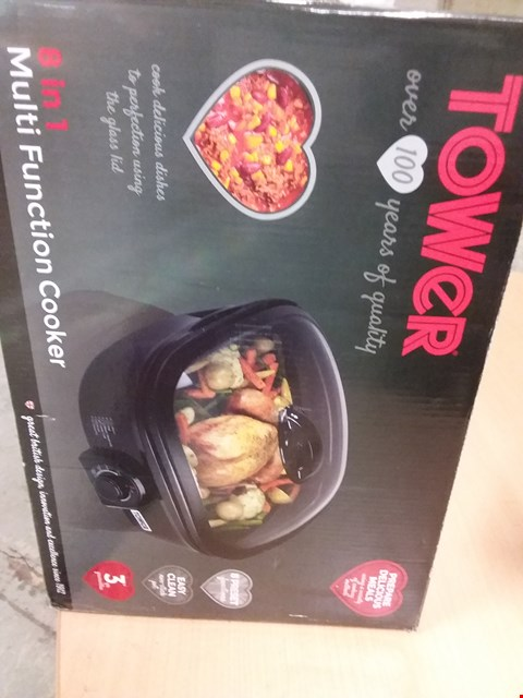 Lot 9553 TOWER 8 IN 1 MULTI FUNCTION COOKER