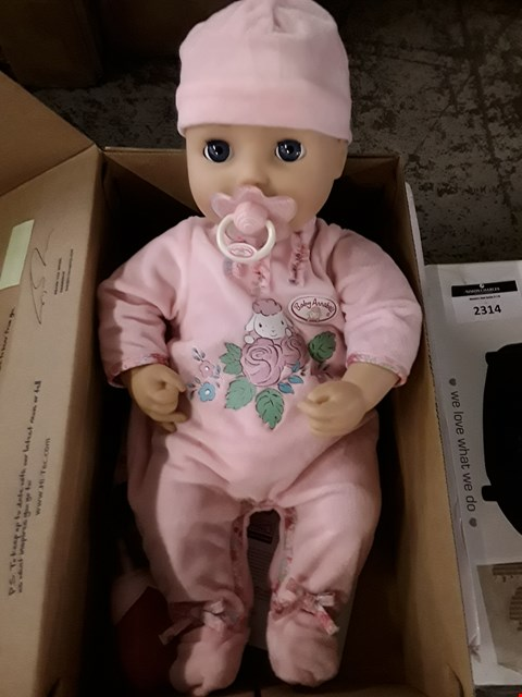 Lot 2271 BABY ANNABELL DOLL RRP £69.99