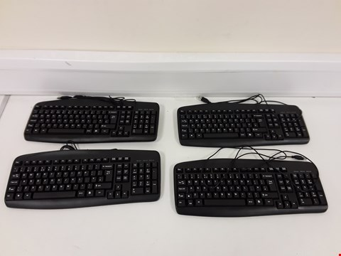 Lot 265 LOT OF 4 ASSORTED ONN WIRED KEYBOARDS