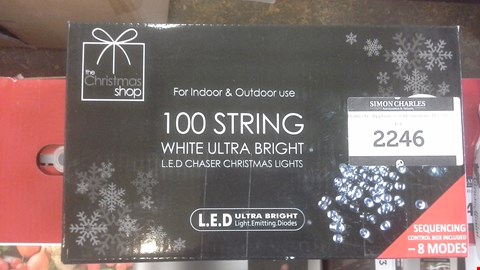 Lot 2246 THE CHRISTMAS SHOP 100 STRING WHITE ULTRA LIGHTS
