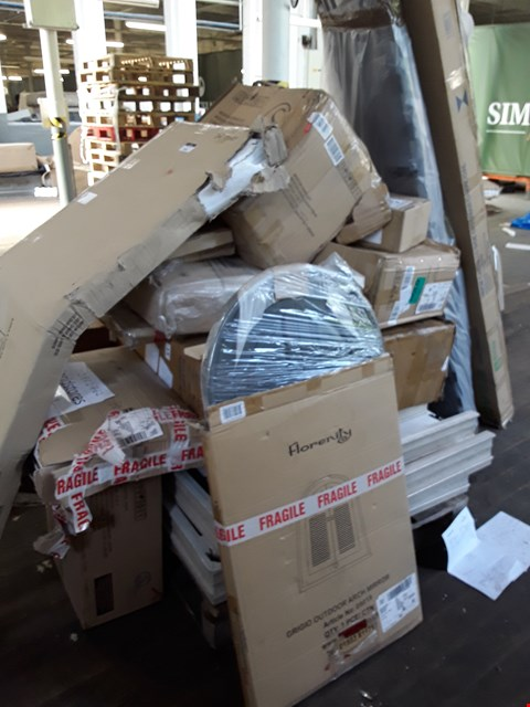 Lot 7006 PALLET OF ASSORTED FURNITURE PARTS , INCLUDING TABLE LEAVES.