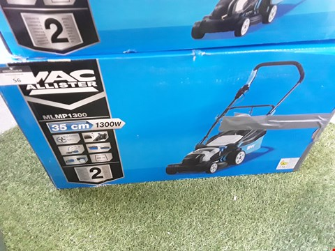 Lot 56 BOXED MAC ALLISTER MLMP1300 CORDED ROTART LAWNMOWER  RRP £68.00