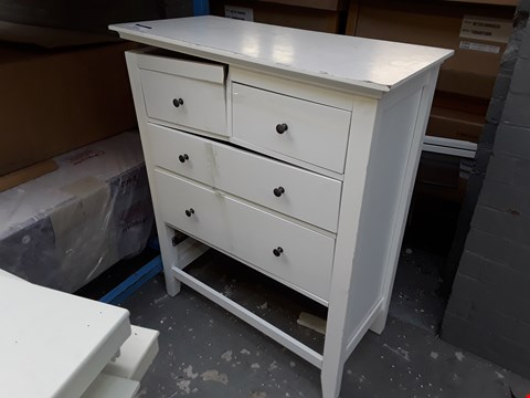 Lot 12189 DESIGNER WHITE FINISH 2+3 DRAWER CHEST