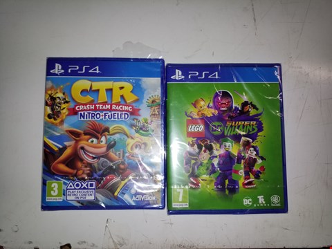 Lot 8046 CRT CRASH TEAM NITRO FUELED PS4 GAME AND LEGO DC SUPER VILLAINS PS4 ONE COLOUR ONE SIZE