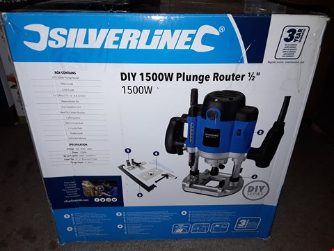 Lot 687 SILVERLINE 1500W PLUNGE ROUTER