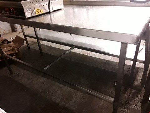 Lot 88 RECTANGULAR METAL WORKTABLE