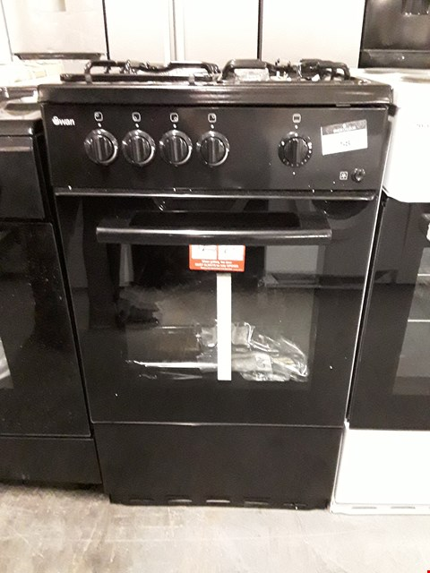 Lot 58 SWAN SX1031B BLACK 50CM SINGLE OVEN GAS COOKER  RRP £149.99