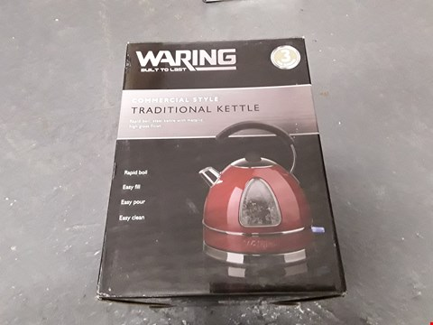 Lot 9973 BOXED WARING BUILT TO LAST COMMERCIAL TRADITION KETTLE