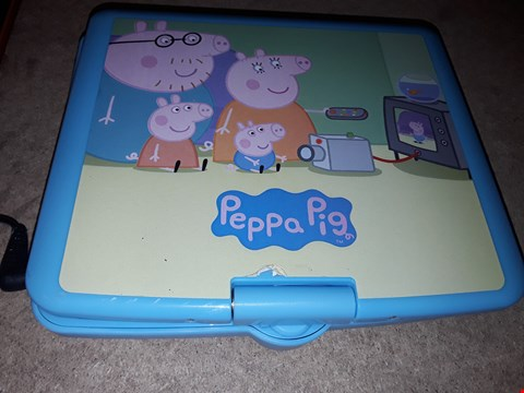 Lot 9278 PEPPA PIG PORTABLE DVD PLAYER RRP £100.00