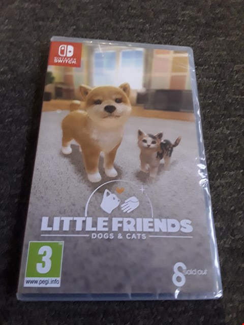 Lot 2513 LITTLE FRIENDS DOGS & CATS NINTENDO SWITCH GAME