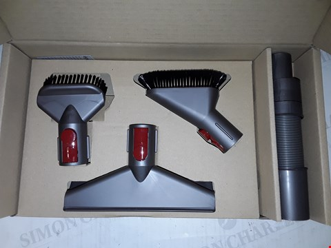 Lot 717 BOX OF APPROXIMATELY 5 ASSORTED DYSON QUICK RELEASE HANDHELD TOOL KITS