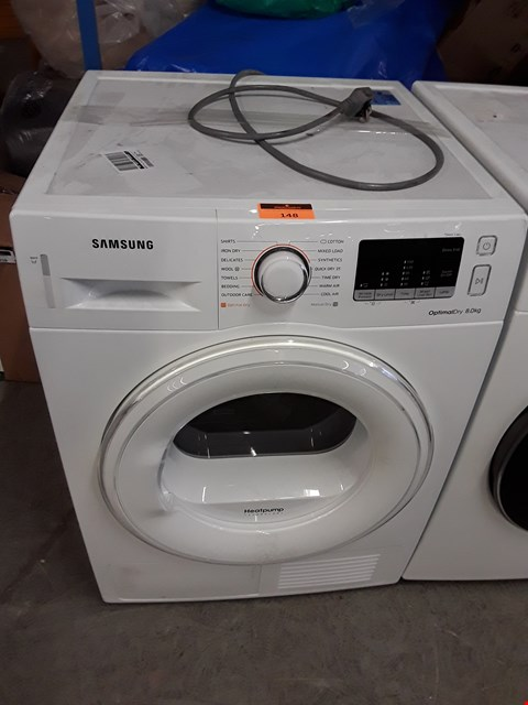 Lot 148 SAMSUNG DV80M50101W FRONT-LOADING ELECTRIC DRYER - 8 KG - WHITE RRP £799.00