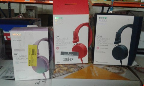 Lot 681 LOT OF APPROXIMATELY 3 ASSORTED MIXX AUDIO OX1 FOLDABLE HEADPHONES