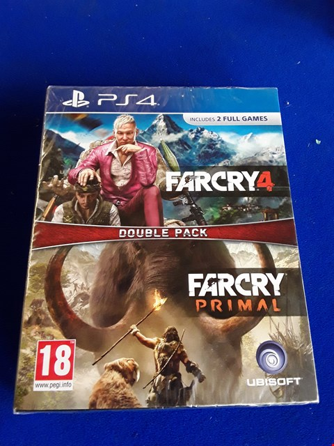 Lot 7651 FARCRY 4 & FARCRY PRIMAL DOUBLE PACK PLAYSTATION 4 GAME