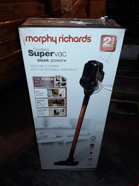 Lot 1034 MORPHY RICHARDS CORDLESS SUPER VAC SLEEK POWER