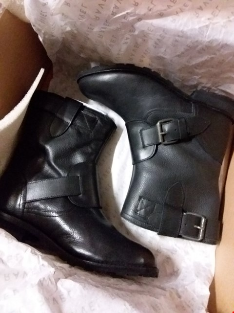 Lot 2036 LOT OF 2 BRAND NEW LDS RAVEL DOUBLE BUCKLE ANKLE BOOTS - BLACK RRP £50