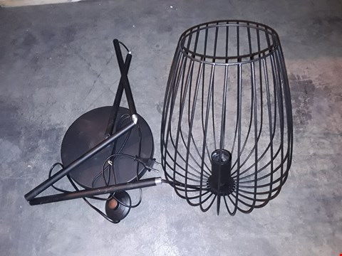 Lot 1018 EGLO BLACK WIRE FLOOR LAMP