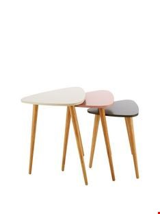 Lot 2395 BOXED ORLA BLUSH NEST OF TABLES  RRP £119.00