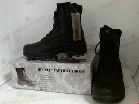 Lot 16024 BOXED PAIR OF DESIGNER MIL-TEC TACTICAL BOOTS - UK SIZE 7
