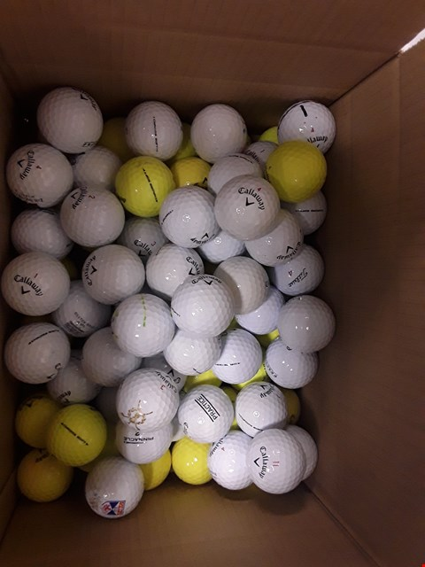 Lot 6538 BOX OF APPROXIMATELY 82 ASSORTED CALLAWAY GOLF BALLS