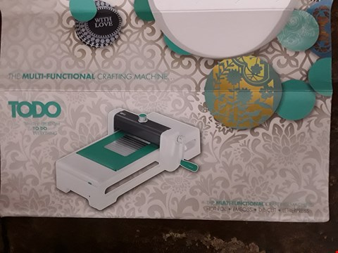Lot 2494 BOXED TODO MULTI-FUNCTIONAL CRAFTING MACHINE