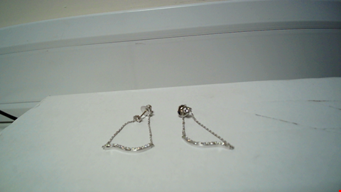 Lot 30 18CT WHITE GOLD SWING EARRINGS SET WITH DIAMONDS  RRP £2550.00