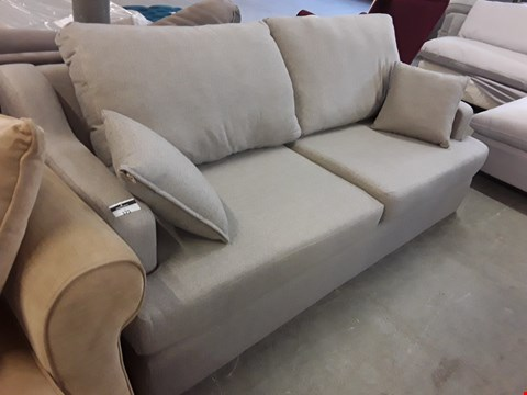 Lot 26 QUALITY HAND MADE GREY FABRIC ATWORTH 3 SEATER SOFA  RRP £1715.00