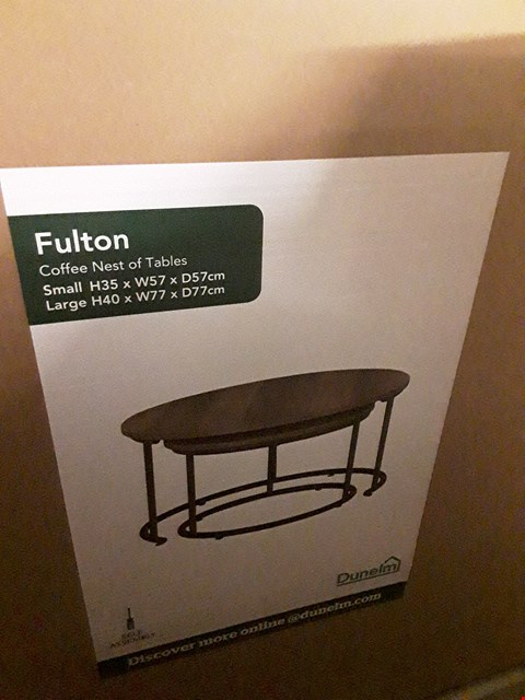 Lot 7087 BOXED FULTON COFFEE NEST OF TABLES
